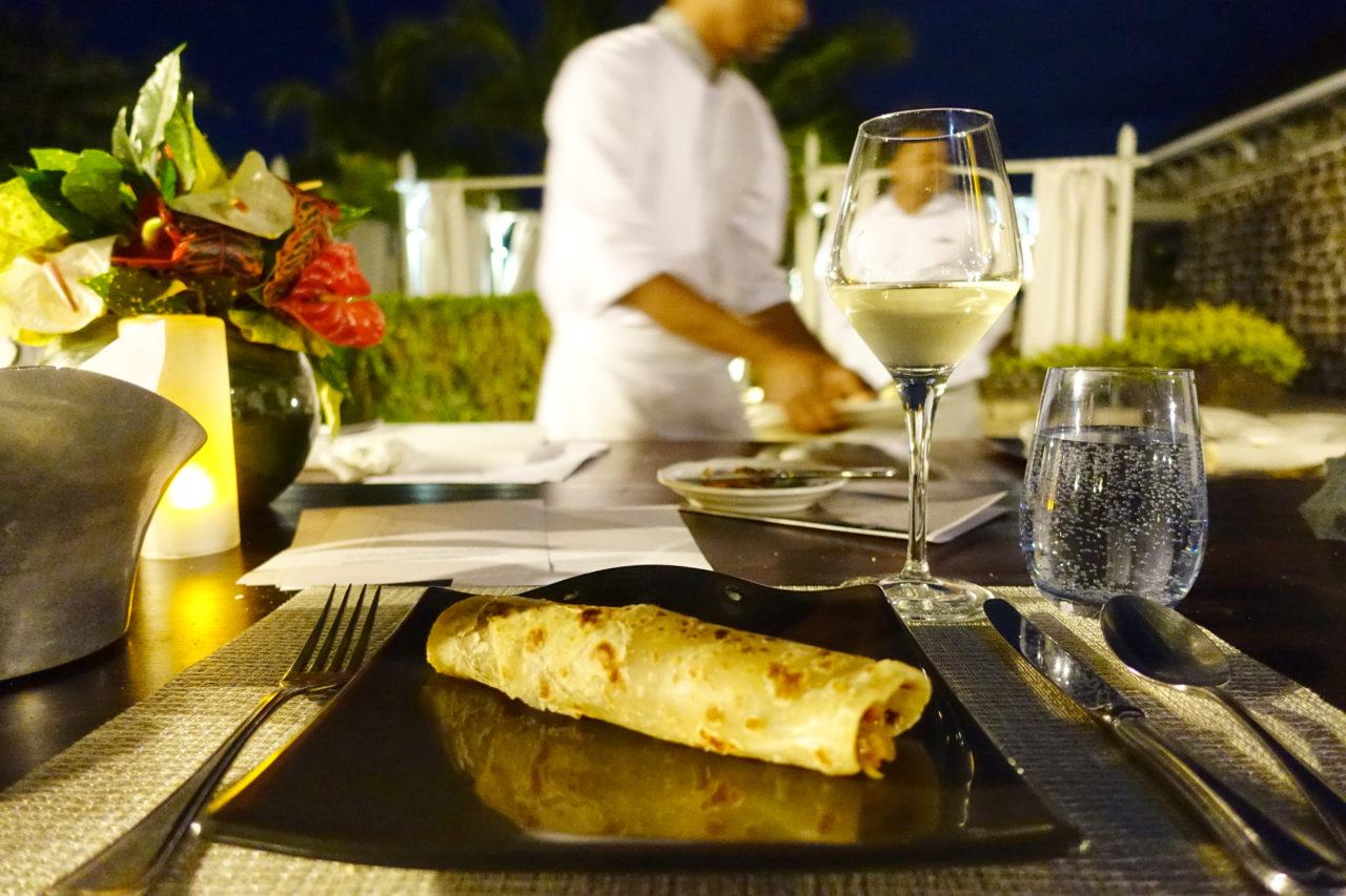 St. Regis Mauritius Live Cooking Lobster Faratha