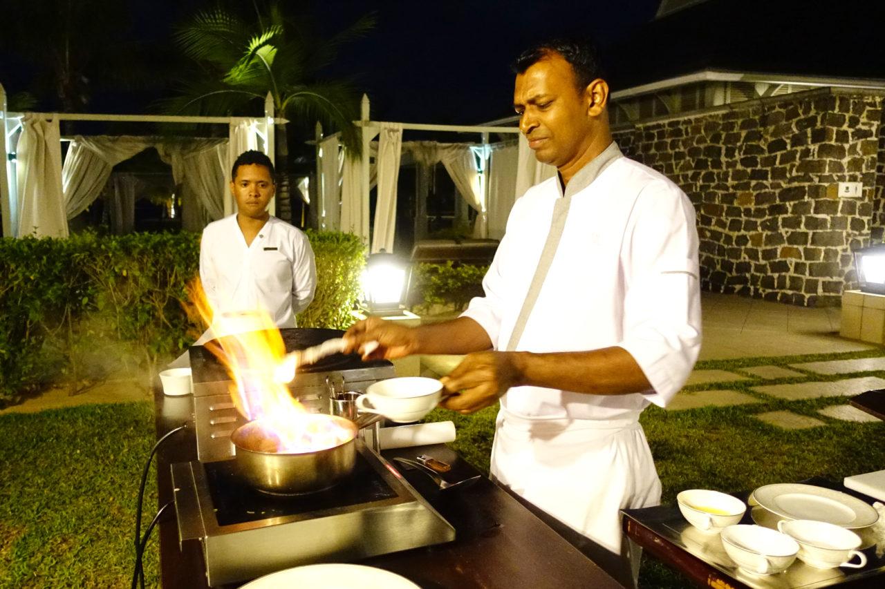 St, Regis Mauritius Live Cooking desert