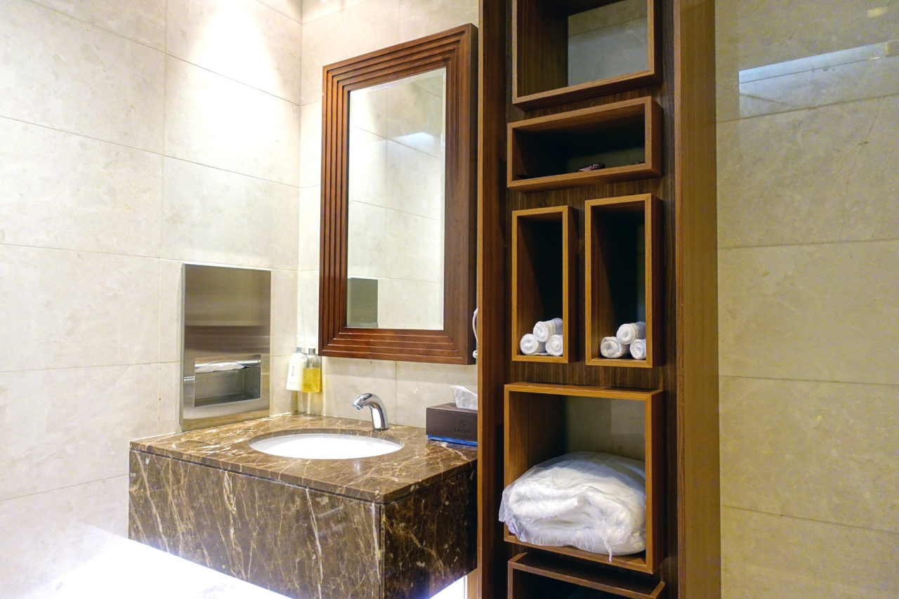 First Class lounge shower suite