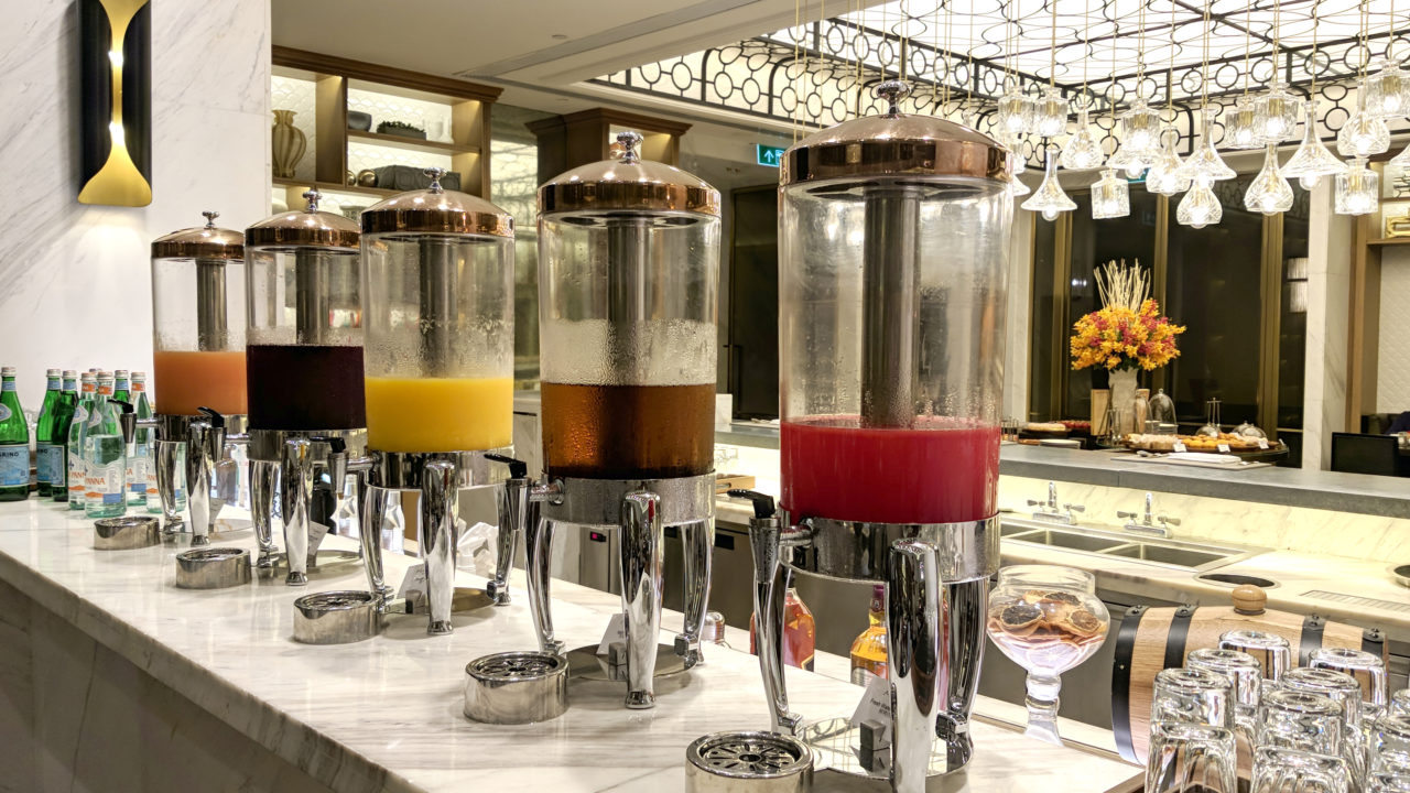 Fresh juices St. Regis hotel Macao
