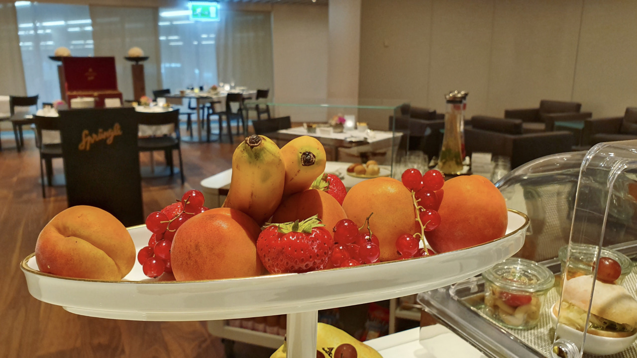 Fresh fruits inside VIP lounge