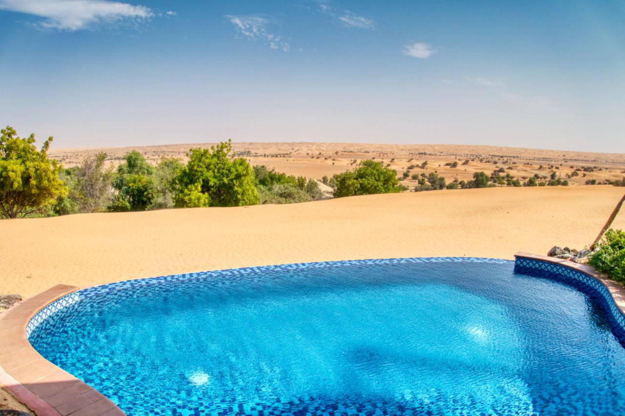 Beduin Suite pool view