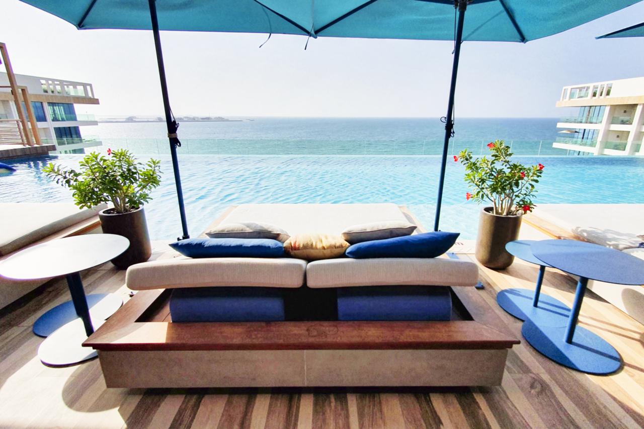 MO Dubai rooftop pool Tasca