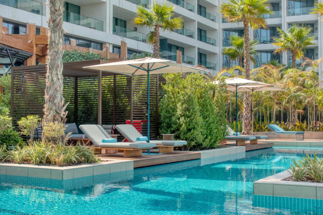 Mandarin Oriental Dubai pool cabana