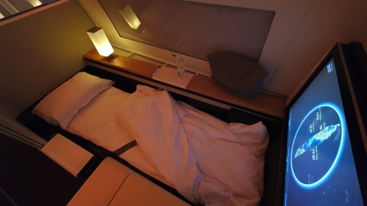 First Class bed on Swiss