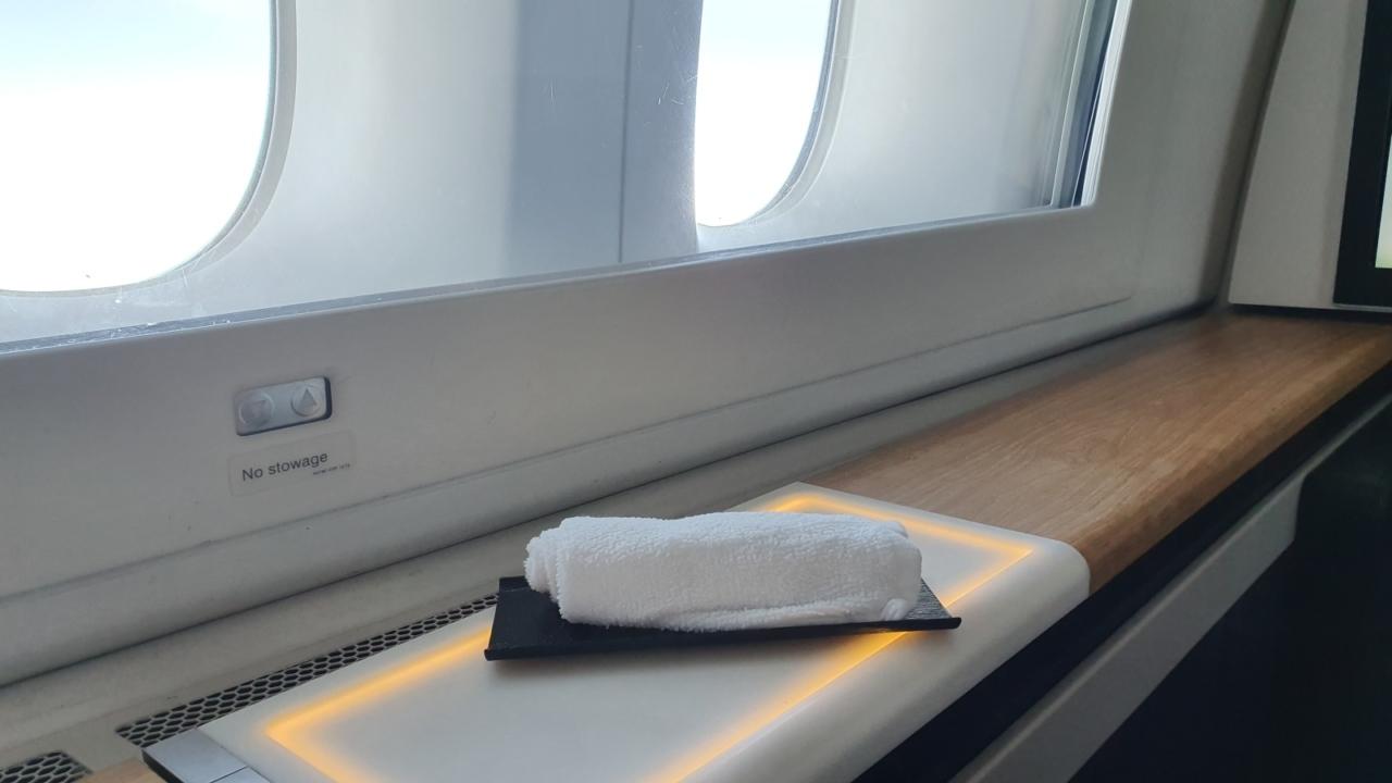 Swiss First Class refreshment towel