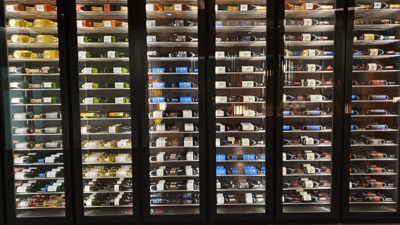 Wine cabinet Zurich airport