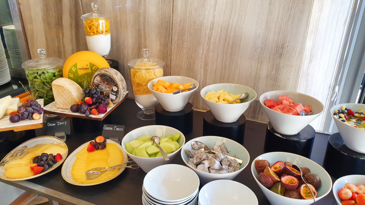 Kempinski breakfast buffet