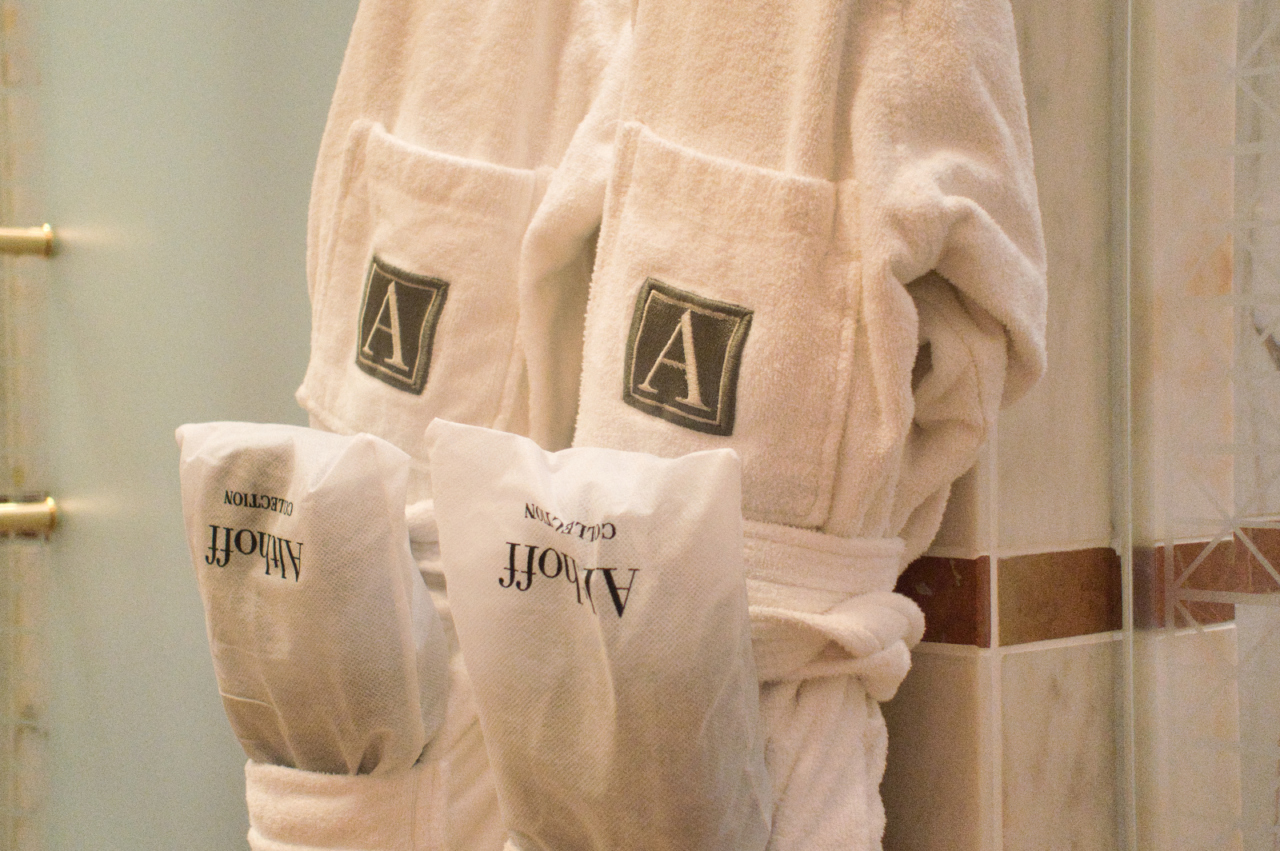 Althoff collection bathrobes close-up