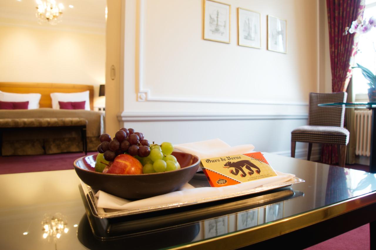 Bellevue Palace Bern Deluxe Suite Welcome Amenities
