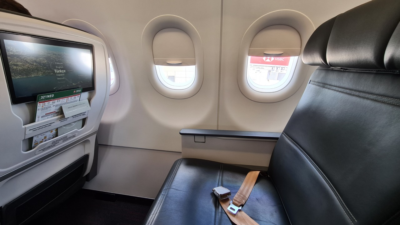 Turkish Airlines Airbus a321 neo seat
