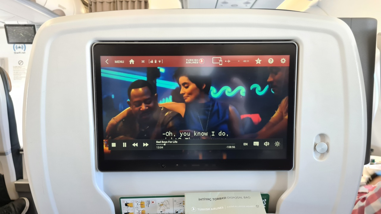 TK airlines inflight entertainment